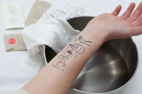 Temporary Recipe Tattoos