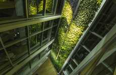 Towering Plant Walls - Canadian Company 'Green Over Grey' Designed this 65 Meter Plant Wall