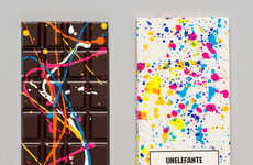 Paint-Splattered Chocolates - Unelefante's Jackon Pollock Style Chocolate Bars Are Art-Appreciative