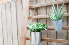 DIY Outdoor Wall Accents - Sugar and Cloth Makes the Most of Wooden Handrails