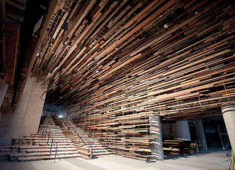 Suspended Splinter Staircases