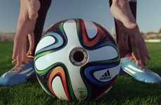 Camera-Loaded Soccer Balls - The Brazuca Soccer Ball by Adidas Captures Amazing 360º Views