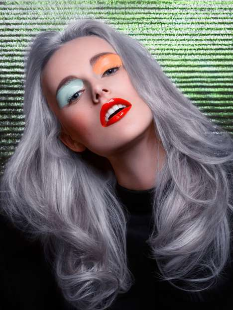 Grey-Haired Glamour Editorials