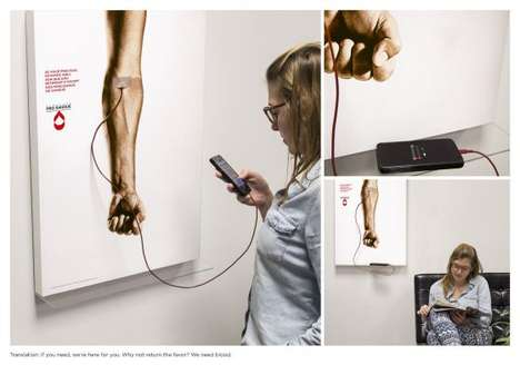 Interactive Blood Donation Ads