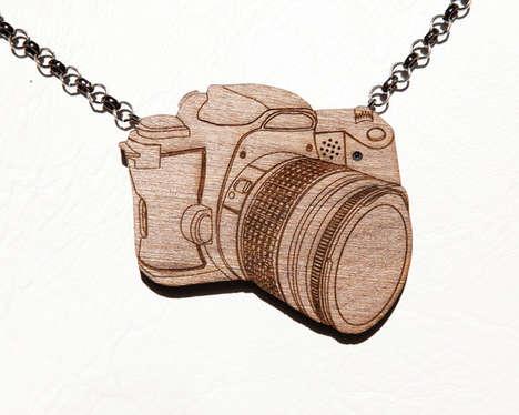 Wooden Necklace Cameras