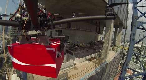 Heartening Soda-Delivering Drones