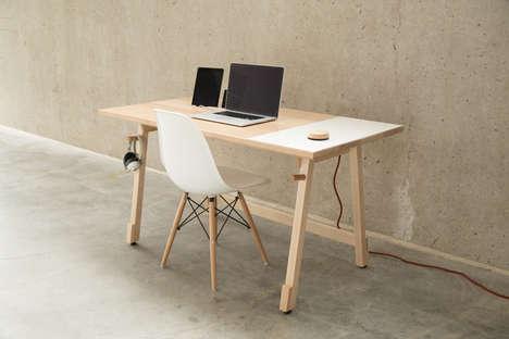 Cord-Concealing Desks