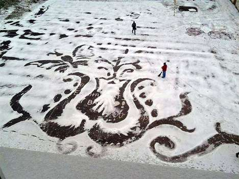 Imaginative Snow Illustrations