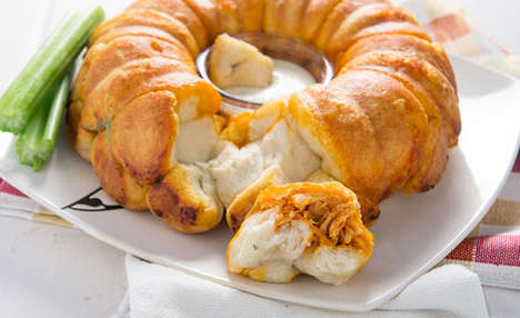 BBQ Chicken Breads - This Savory Monkey Bread is Stuffed with Buffalo Chicken