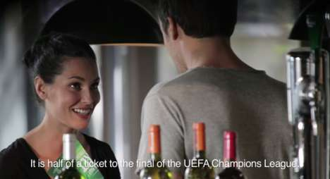 Guerrilla Marketing Beer Ads - This Heineken Ad Makes Guys Choose Between Their Girlfriends & Soccer