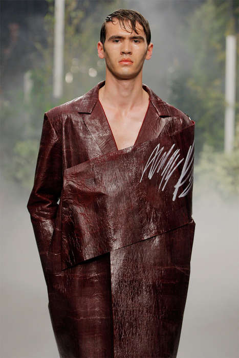 Conceptual Leather-Made Menswear