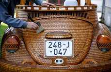 Wooden Punch Buggies - Momir Bojic's Wooden Car Design Recreates the VW Beetle in Oak