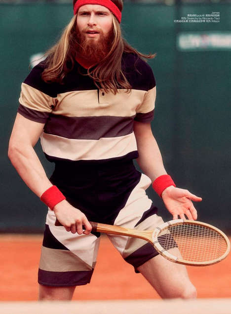 Retro Tennis Star Editorials