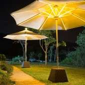 Illuminating Patio Umbrellas - Ni LED Parasol Lights Up Your Outdoor Space While Providing Shelter