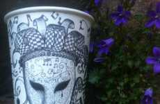 Personalized Coffee Cup Illustrations - Gabriel Lafitte Nkweti Draws Customers' Names on Coffee Cups