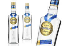 Winning Vodka Bottles - The Bulbash Champion Bottle Turns Its Logo into a Medal