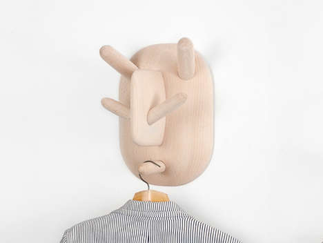Grotesque-Faced Garment Racks - The Ooga Booga Coat Hook is Anthropomorphic, Ugly and Amusing