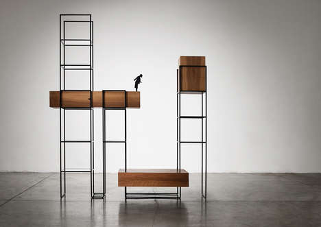 Skyline-Like Furniture Installations