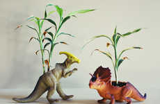 Prehistoric Plant Accessories - These DIY Dinosaur Planters by Mandy Crandell are Fiercely Fun