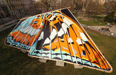 Giant Butterfly Pavilions - Hello Wood Installs the Butterfly House in Budapest