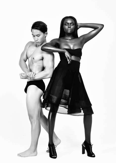 Monochromatic Bodybuilder Photoshoots - Bold & Beautiful by Jeremy Choh Stars Model Deel Ojulu