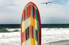 Sustainable Surfboard Art Works - The BSI Mini Surfboard from CB2 Features an Eco-Friendly Design