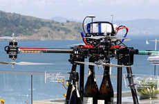 Champagne Delivery Drones - Casa Madrona Sends Champagne to High-Paying Guests by Drone Delivery