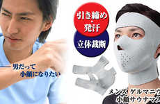 Japanese Male Face Slimmers - The Men's Germanium Kogao Sauna Mask Avoids Plastic Surgery