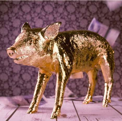The Golden Piggy Bank is Cast from a Deceased Piglet