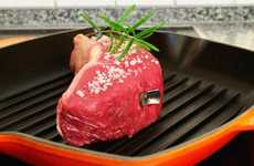 Flashing Grill Thermometers - The SteakChamp Thermometer Takes the Pain Out of Grilling