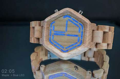 Digital Wooden Time Tellers