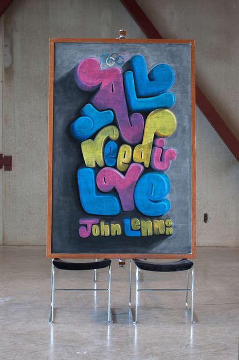 Motivational Chalkboard Art