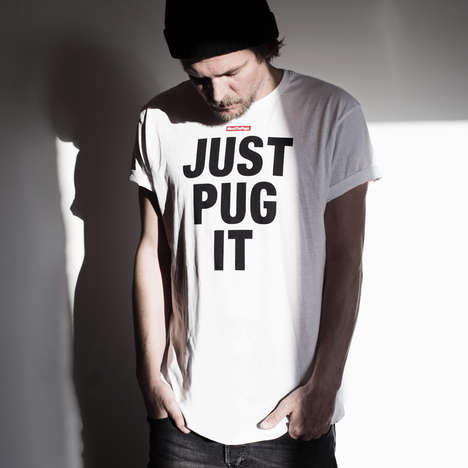 Canine Slogan Shirts - The Just Pug It Tee Proudly Boasts Dog-Focused Inspiration