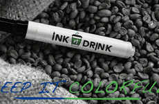 Color-Changing Markers - The 'Ink N Drink' Marker Changes Color as Your Coffee Cools Down