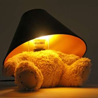 Disguised Toy Illuminators - The Teddybear Lamp by Matthew Kinealy is Cleverly Designed