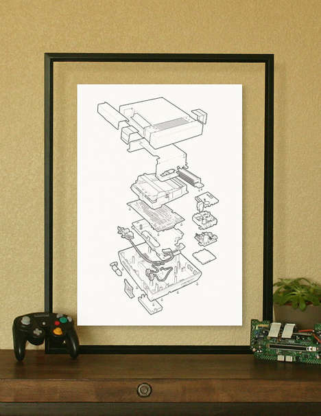 Dismantled Gaming Console Posters