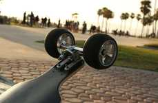 Tilting-Wheel Skateboards - The Lean Skateboard's Wheels Tilt While Turning for Improved Control