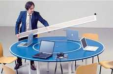 Ping Pong Conference Tables - 'Ping Meets Pong' Acts as Both a Conference Table and a Game Piece