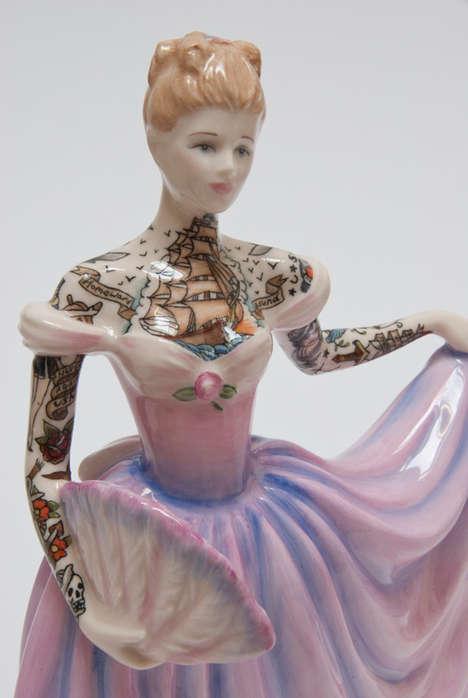 Tattooed Porcelain Figures