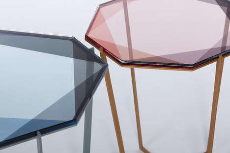 Precious Stone Inspired Furnishings - These Gem Tables by Debra Folz are Geometry-Infused