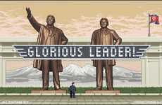 Satirical Supreme Leader Games - This North Korea Parody Features Kim Jong-un in a Retro Video Game