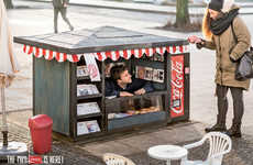 Mini Pop Kiosks - The Coca-Cola Mini Kiosk Creatively Advertises the Brand's New Tiny Cans