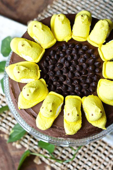 Sunflower-Resembling Cakes