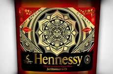 Kaleidoscopic Brandy Bottles - Shepard Fairey is Now Part of the Hennessy Artist Bottle Series