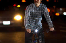 Reflective Menswear Tops - The Betabrand Reflective Plaid Button-Down is Ideal for Biking at Night