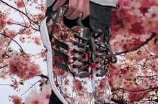 Floral Photography Sneakers - The Adidas ZX Flux Use Photographs to Create the Shoes Print Design