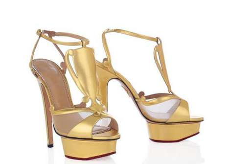 Golden Champion Stilettos - Charlotte Olympia Podium Heels are Shoes for Winners