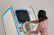 Retro Arcade Washers - This Washing Machine by Lee-Wei Chen Offers Video Games While You Wash