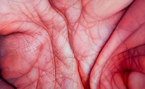 Hyperreal Wrinkle Paintings