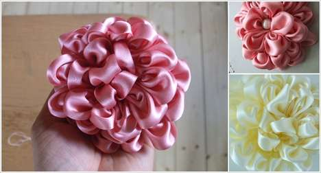 Subtle Satin Bouquets - This DIY Bouquet Tutorial Showcases How to Turn Ribbon into a Chic Design